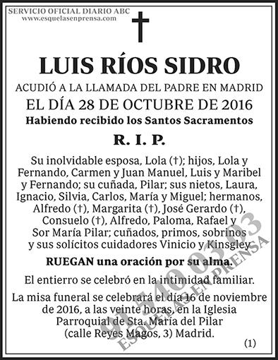 Luis Ríos Sidro